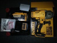 Dewalt Impact Wrench DCF899HN with 18v-4AH Battery, quick charger and a black & decker case.
