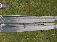 TWO DRENNAN SERIES 7 13FT COMPETITION FLOAT RODS little used condition. £40 each or £75 the pair.
