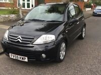 2009 Citroen C3 Exclusive,Automatic, 5 Doors, Black,Full Service History and MOT, Low Mileage of 25k