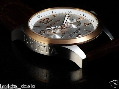 NEW Invicta Men's Swiss I-Force Day / Date Calf Leather & Textured Dial SS Watch