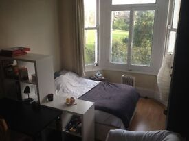 Double Bedsit, Philbeach Gardens, Earls Court, Private Garden. Free 100mb Wireless Internet.