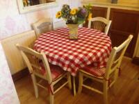 "Circular Pine Kitchen Table 41"" dia"