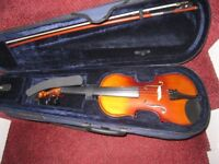 1/2 size Childs Violin with case & bow - CARLO GIORDANO In excellent Condition