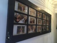 Wooden door picture frame