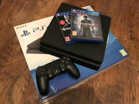 PS4 Slim 500gb + 2 games