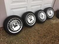 Ronal turbo 4x100 15inch alloys with tyres vw BMW