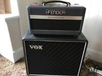 Fender Bassbreaker 007 Amp Head & Vox Speaker Cab in mint condition