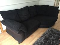 DFS Left hand Corner Sofa and Chair