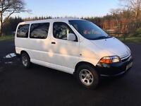 Toyota hiace 2001. Powervan. Mini bus. Van. Coach.