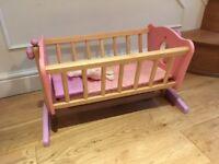 Wooden Child's Play Cradle