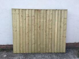 🌳 TANALISED HIGH QUALITY WOODEN STRAIGHT TOP GARDEN FENCE PANELS 🌳