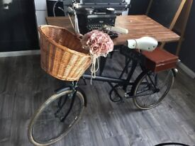 Vintage Raleigh bike for sale, ideal wedding prop/shop display