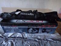 Interfit EX 300 camera studio kit 2 stands, 1 soft box, 1 translucent umbrella, modelling lamps