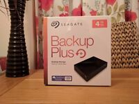 Roll over image to zoom in Seagate Backup Plus 4 TB USB 3.0 for PC and MAC, Sealed