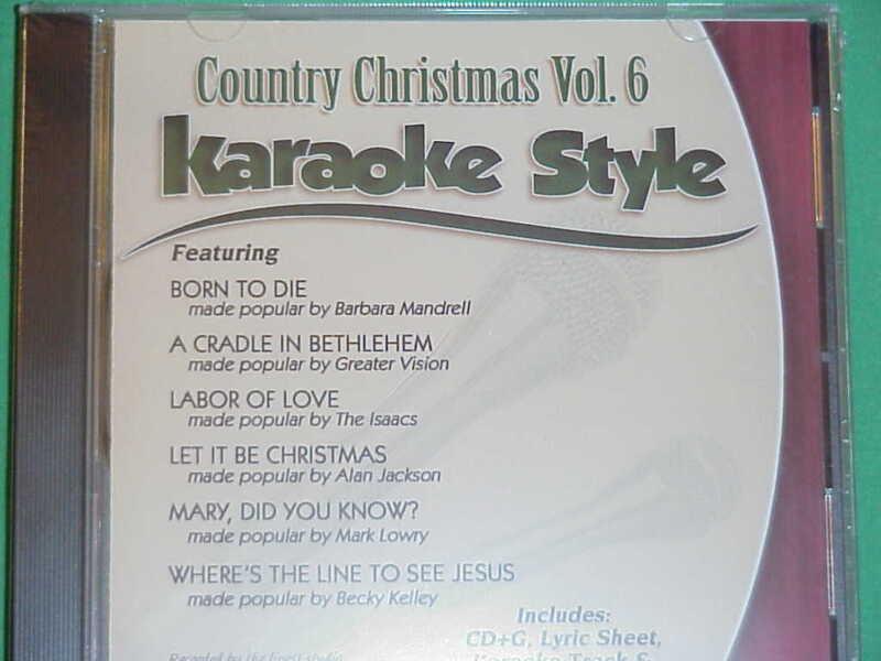 Country Christmas  Volume #6  Christian  Daywind  Karaoke Style  CD+G  Karaoke