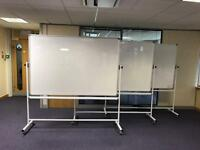 Mobile swivel magnetic Whiteboard on wheels