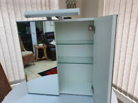 Ikea Bathroom Cabinet with twin mirrored doors