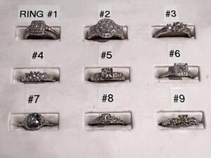 NINE WHITE GOLD DIAMOND RINGS! 10K - 14K - 18K  *BIRKS RING!* **DIAMONDS DIAMONDS DIAMONDS**
