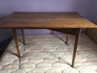 Old Antique Distressed Solid Elm Wooden Kitchen Occasional Table