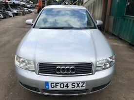 2004 Audi A4 Fsi Se 4dr Saloon 2.0 Petrol Silver BREAKING FOR SPARES
