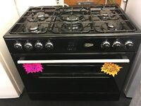 FLAVEL BRAND NEW 90CM DUAL FUEL RANGE STYLE COOKER IN BLACK