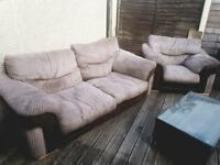 Large 2/3 seater settee with 1 chair.