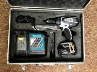 Makita DHP456 18V White Cordless combi Drill with battery and charger