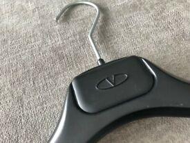 VALENTINO Luxury Black Embossed Logo Hanger (Collector's Item)