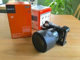 Sony A6000 (silver) with SELP18105G LENS and Smallrig cage and grip - MINT