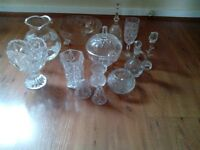 Various items of glassware for sale