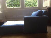 Blue Chaise Longue