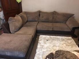Brown corner sofas(like new)reduced price