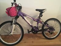 Carrera Luna 20 purple/white girls bike