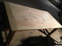 """Huge 7' x 3'6"""" solid beech refectory table. Kitchen. Painted. Shabby chic."""