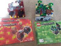 2x Minecraft lego sets