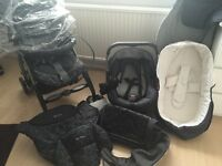 Complete silver cross 3D pram pushchair travel system with Ventura plus car seat