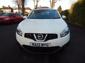 2012 Nissan Qashqai White colour very low millage, in very good condition