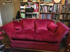 Laura Ashley 2 seater sofa in Villandry Cranberry