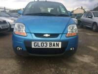 Chevrolet Matiz se plus 1.2 petrol with MOT private number plate
