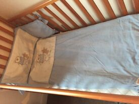 Mothercare Cot Bed with Cot Bed Quilt and Bumper