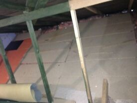 FREE Loft boards used, covered approx 2m x3m area