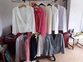 10 LADIES JACKETS COTTON/LINEN SIZE 18 SOME BRAND NEW buyer to collect