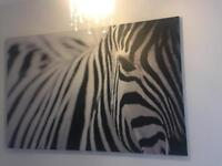 Large Zebra Canvas