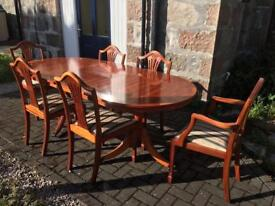 Large Dining Table 6 Chairs (indoor use)