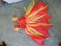 red fire fairy dress age 5-6