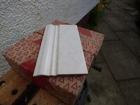 Marbled white ceramic border tiles