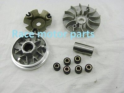 Scooter Clutch Variator Set Pulley fan Roller Weights GY6 125cc 150cc Honda ATV