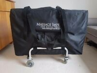 Lightweight massage table, trolley and extras for sale