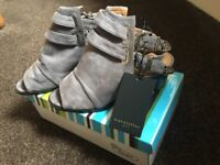 Grey Suede Shoes Size 6