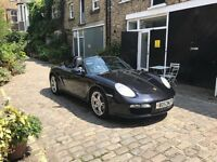 Porsche Boxter S Convertible Petrol Car (Black). Full Black Leather interior, Stereo system and NAV